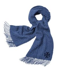 Tory Burch - Blue Whipstitch-t Scarf - Lyst