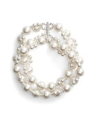 Simone Rocha | White Double Strand Beaded Necklace | Lyst