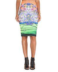 Clover Canyon - Multicolor Newgrange Clover Pastures Neoprene Skirt - Lyst
