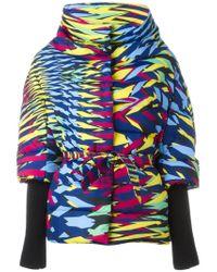 M Missoni - Multicolor Zigzag Pattern Belted Coat - Lyst