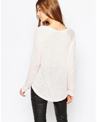 Vila | Pink Long Sleeve T-shirt | Lyst