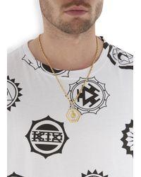 Versus | Metallic Gold Tone Lion Necklace for Men | Lyst