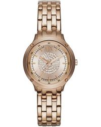 Armani Exchange | Pink Ax5416 Rose Gold-plated Stainless Steel Watch | Lyst