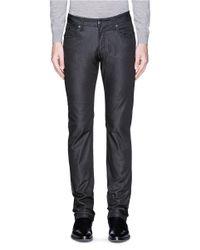 Armani - Black Straight Leg Stretch Denim Jeans for Men - Lyst