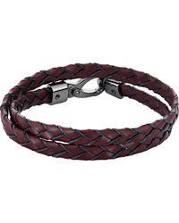 Tod's - Purple Leather Wrap Bracelet for Men - Lyst