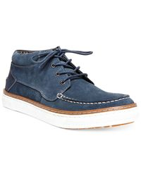 Steve Madden | Blue Flyynn Suede Sneakers for Men | Lyst