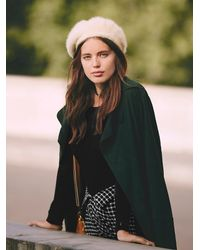 Free People - White Silver Linings Beret - Lyst
