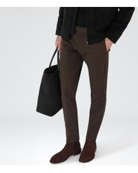 Reiss - Brown Maybury Slim-fit Chinos for Men - Lyst