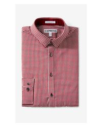 Express | Purple Extra Slim Dot Print Going Out Shirt for Men | Lyst