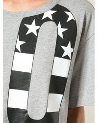 Love Moschino | Gray Oversized Love Print T-shirt | Lyst
