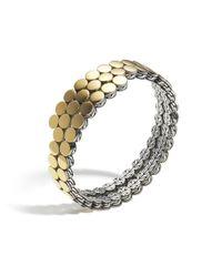 John Hardy - Yellow Dot Double Coil Bracelet - Lyst