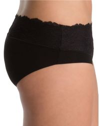 Spanx | Black Lace-accented Hipster Panties | Lyst