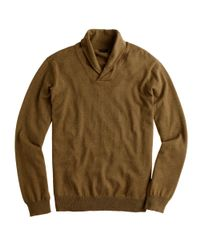 J.Crew - Green Cotton-Cashmere Shawl-Collar Sweater for Men - Lyst