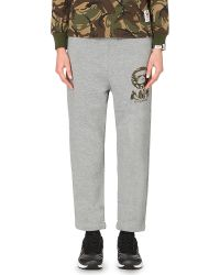 Aape | Gray Camo-detail Jogging Bottoms | Lyst