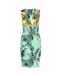 Roberto Cavalli | Multicolor Abstract-Print Jersey Dress | Lyst