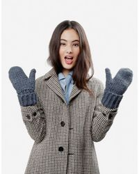 Wool And The Gang | Blue Rock 'n' Wool Mittens | Lyst