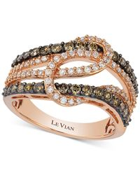 Le Vian | Pink Diamond Interlocking Knot Ring In 14k Rose Gold (1 Ct. T.w.) | Lyst