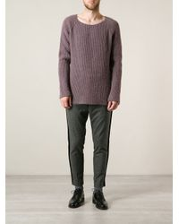 Haider Ackermann - Purple Ribbed Knit Sweater for Men - Lyst