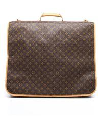 Louis Vuitton - Preowned Brown Monogram Canvas Garment Bag - Lyst
