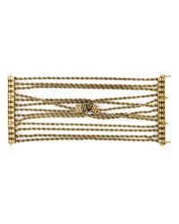 Lanvin | Metallic Braided Bracelet | Lyst