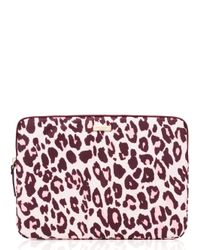 Kate Spade | Pink Cheetah Laptop Zip Sleeve | Lyst