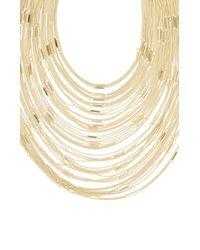 BCBGMAXAZRIA - Metallic Multi Layered Bar Chain Necklace - Lyst