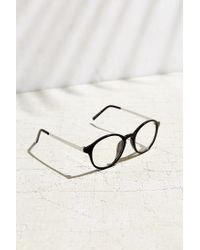 Urban Outfitters - Black Petite Round Readers - Lyst