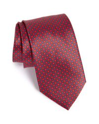 Brioni | Red Medallion Silk Tie for Men | Lyst