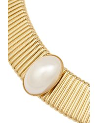 Kenneth Jay Lane - Metallic Gold-tone Faux Pearl Necklace - Lyst
