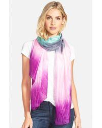 La Fiorentina | Pink Ombre Silk Scarf | Lyst