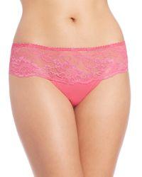 Aubade - Pink Les Belles Garconnes Lace Tanga - Lyst