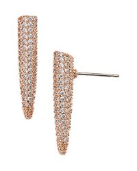 Eddie Borgo | Pink Pave Crystal Mini Spike Earrings | Lyst