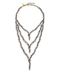 Erickson Beamon | Metallic Temptress Crystal Draped Multi-row Necklace | Lyst