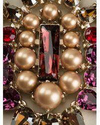 Anton Heunis | Metallic Teardrop Crystal Cluster Bib Necklace | Lyst
