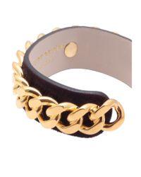 Kurt Geiger - Metallic Leather Chain Cuff - Lyst