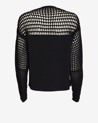 Helmut Lang - Black Micro Grid Crop Sweater - Lyst