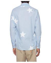 Saucony - Blue Stars Print Cotton Shirt for Men - Lyst