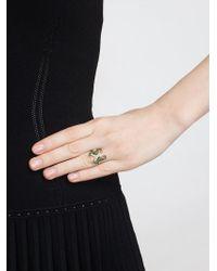 Yvonne Léon - Green Yvonne Léon Diamond Double Seahorse Ring - Lyst