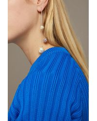 Marc Jacobs - White Pearl Cluster Delicate Earring - Lyst
