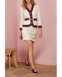 Gucci - Multicolor A-line Light Tweed Skirt - Lyst