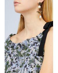 Erdem - Green Hoop Bee Earrings - Lyst