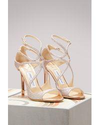 Jimmy Choo | Multicolor Lang 100 Glitter Sandals | Lyst