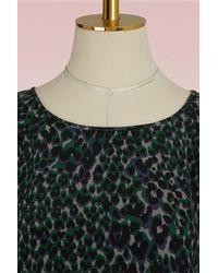 Equipment - Gray Abeline Leopard Blouse - Lyst