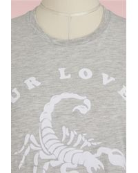 Zoe Karssen - Gray Cotton T-shirt - Lyst