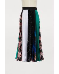 eca66302a MSGM Long Pleated Skirt in Blue - Lyst