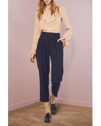 See By Chloé - Blue Darted Pants - Lyst