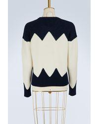 Tory Burch - Blue Wool Hannah Sweater - Lyst