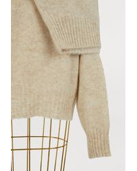 Céline - Natural Two-in-one Sweater In Soft Shetland Wool - Lyst