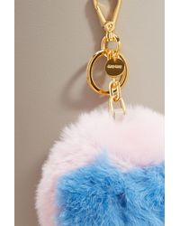 Miu Miu - Multicolor Fur Charm - Lyst