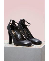 Michel Vivien   Black Natalie Leather Pumps   Lyst
